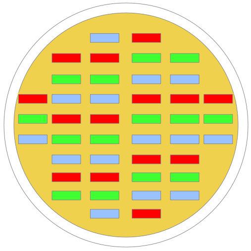 Schematische Darstellung einer COB LED Leuchte