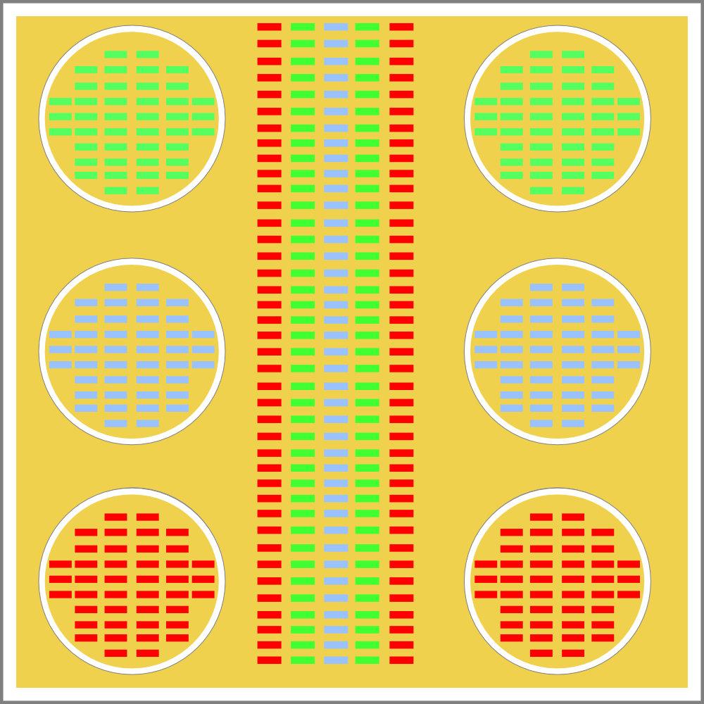 Schema einer Leuchte in der COB und Single Chips LEDs genutzt werden